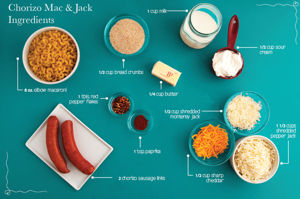 Chorizo-Mac-n-Jack-Ingredients