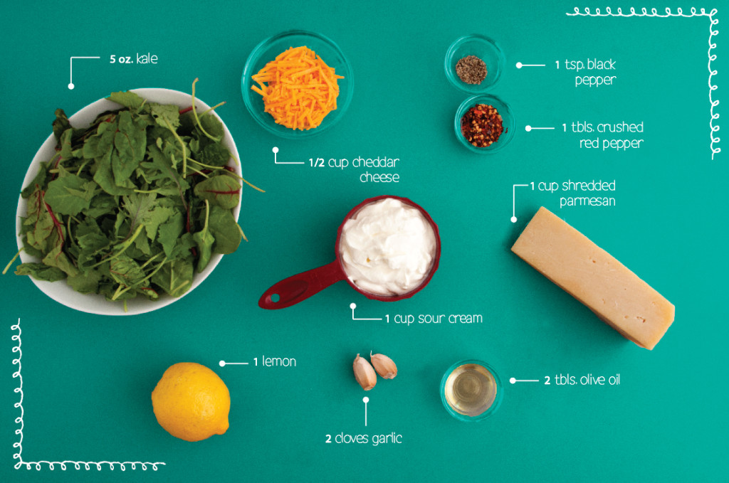 Parmesan-Kale-Dip-Ingredients