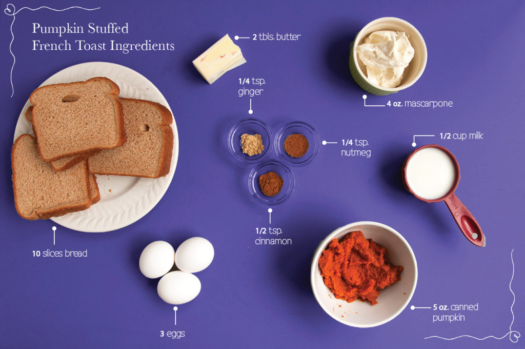 Pumpkin-Stuff-French-Toast-Ingredients