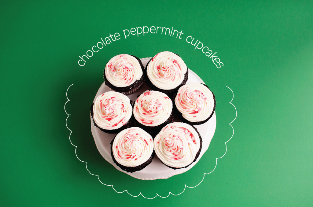Chocolate-Peppermint-Cupcakes-Overhead
