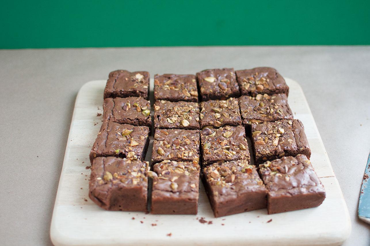 Pretty In Pistachio Pistachio Brownies Recipe