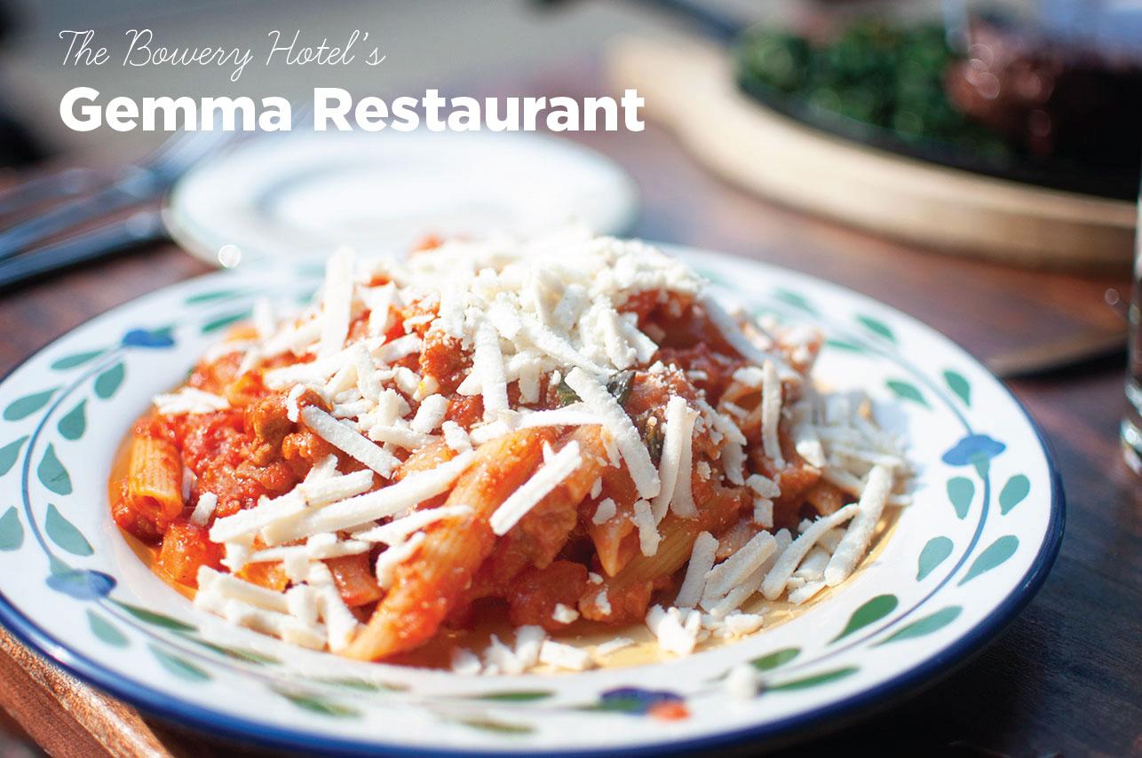 Pretty In Pistachio Nyc Bowery Hotel Gemma Restaurant