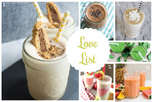 Love List 7/23/14: Summer Smoothies