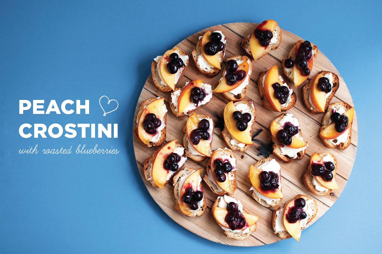 Roasted-Blueberry-Peach-Crostini