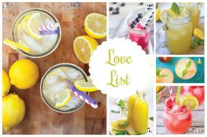 Love List 8/20/14: Lemonades for National Lemonade Day