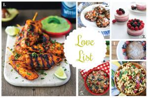 Love List 8/27/14: Labor Day Recipes