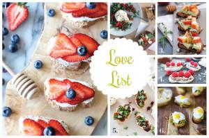 Love List 8/6/14: Crostinis