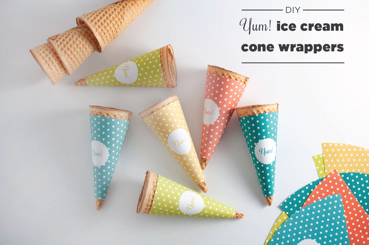Pretty In Pistachio National Ice Cream Cone Day Diy Wrappers