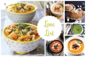 Love List 10/2/14: Soups