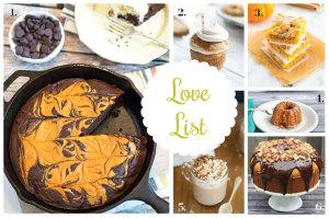 Love List 10/8/14: Pumpkin Recipes