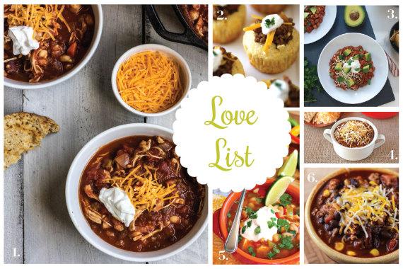 Love List 11/12/14: Chili Recipes