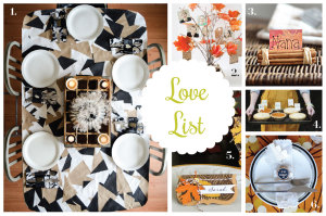 Love List 11/19/14: Thanksgiving Decor