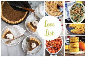 Love List 11/26/14: Thanksgiving Recipes