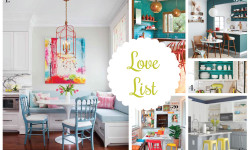 Love List 2/8/15: Colorful Kitchens