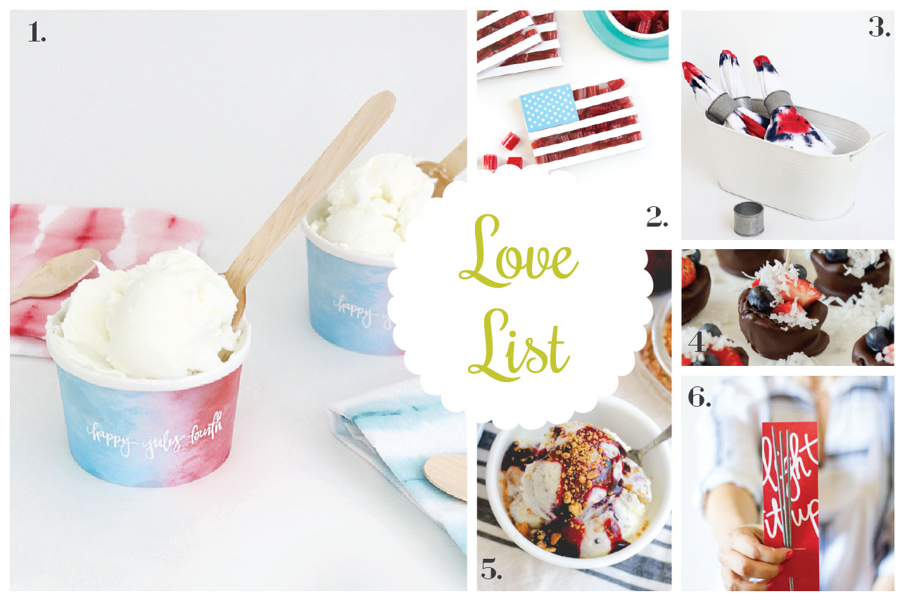 ... Ice Cream Flavors Love List 7/1/15: Fourth Of July Fun