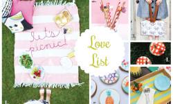Love List 7/22/15: Picnic Crafts