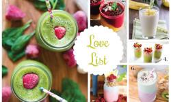 Love List 1/6/16: Refreshing Smoothie Recipes