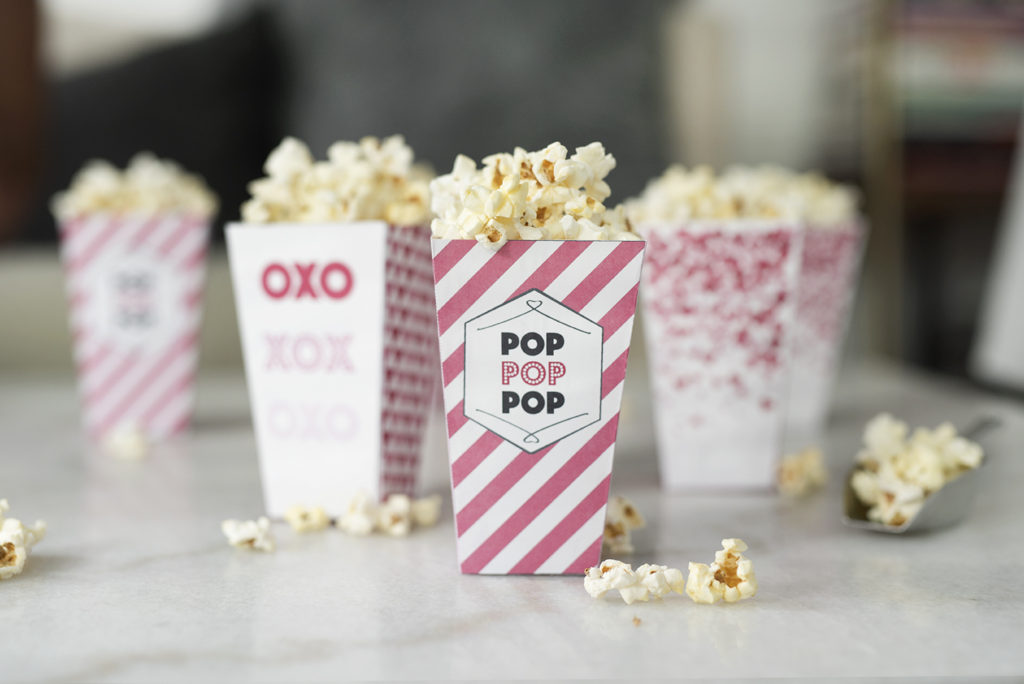 picture about Popcorn Box Printable known as Lovely in just Pistachio Charming Crimson Popcorn Bins (No cost