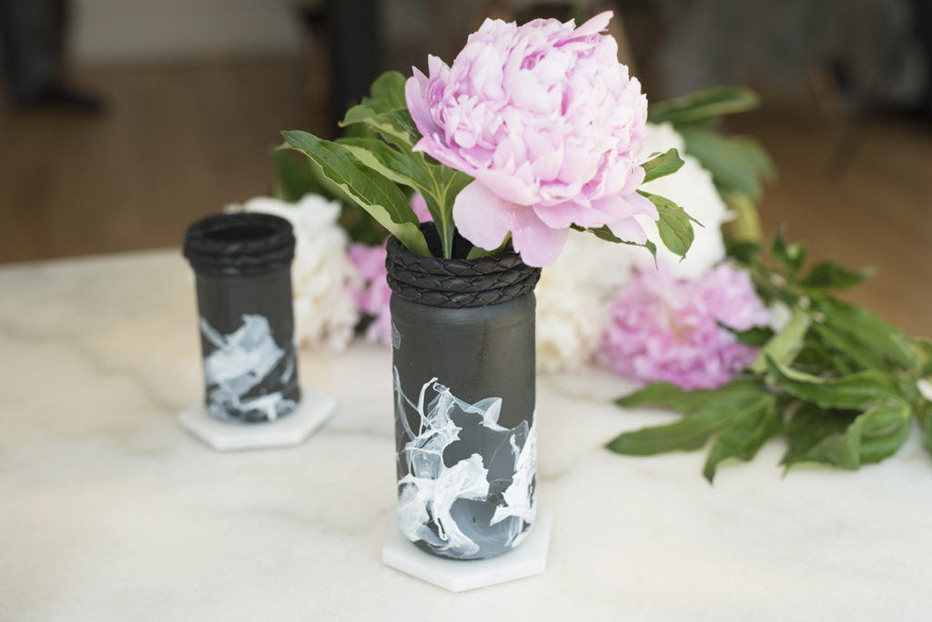 Pretty in Pistachio | DIY Black & White Flower Vases | Pretty in ...