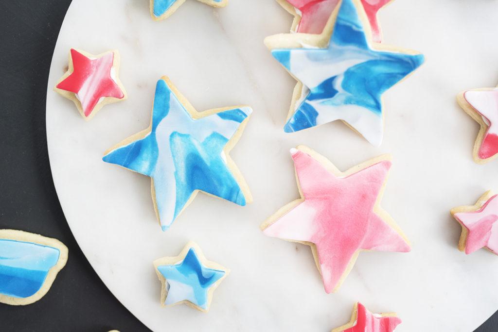 Pretty In Pistachio Red White And Blue Fondant Sugar Cookies Pretty In Pistachio